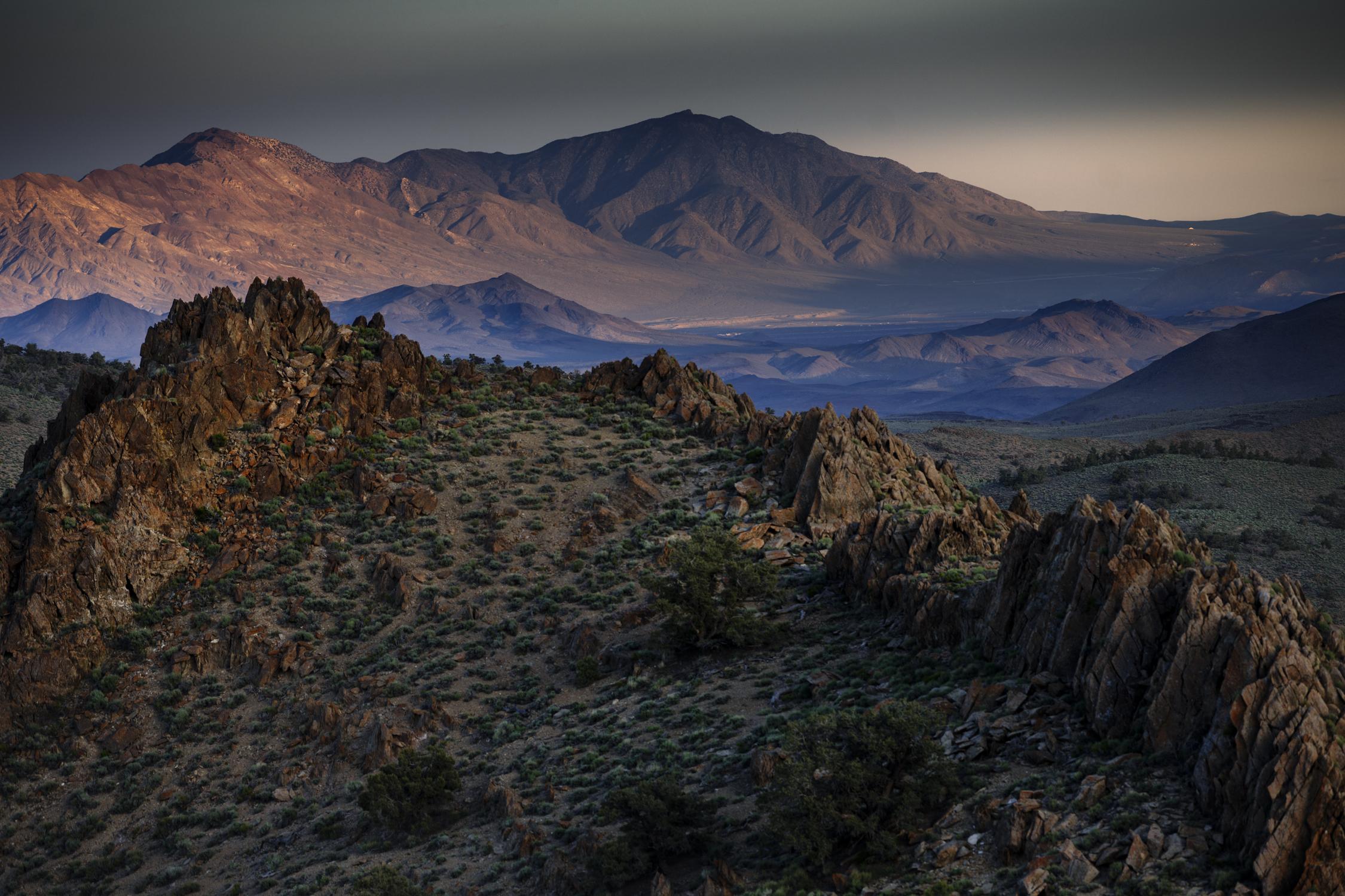 Peak of conglomerate mesa looking towards death valley
