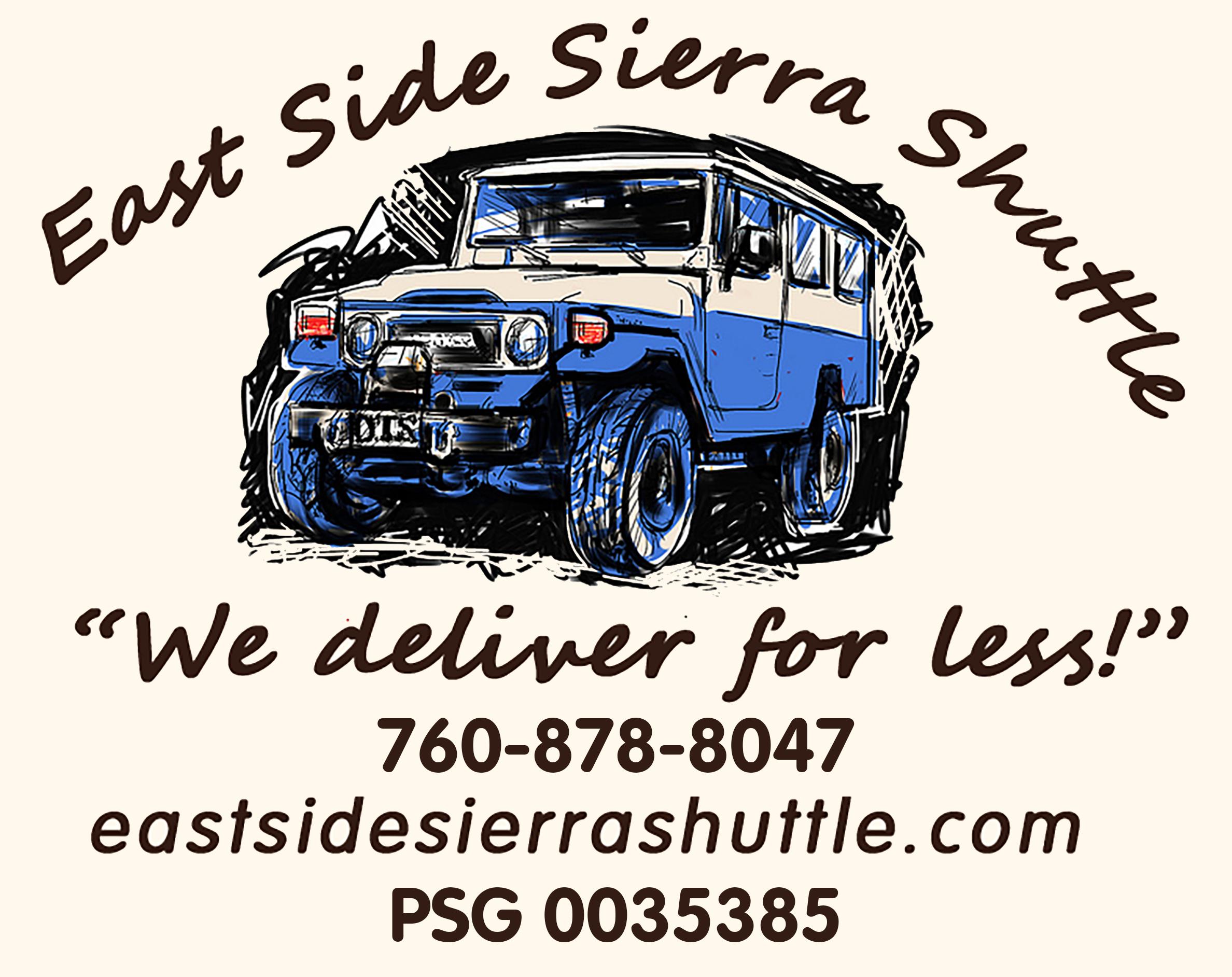 Logo of East Side Sierra Shuttle in Lone Pine CA